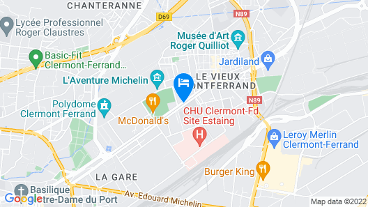 Campanile Clermont Ferrand Centre Map
