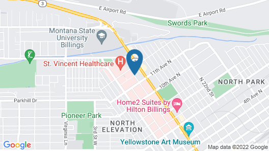 Hilltop Inn by Riversage Map