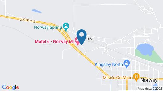 Americas Best Value Inn & Suites Norway Map