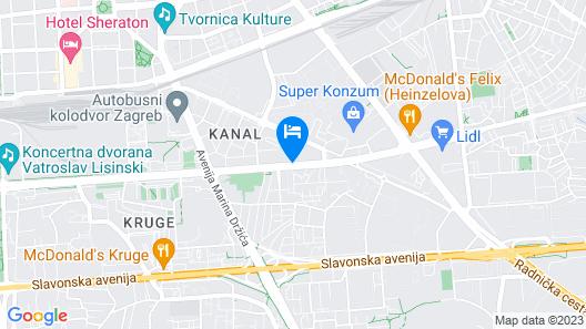 DoubleTree by Hilton Zagreb Map