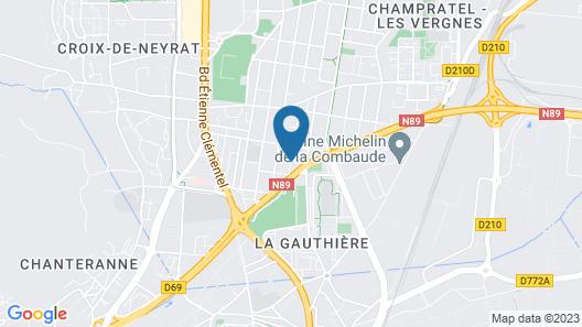 Premiere Classe Clermont Ferrand Nord Map