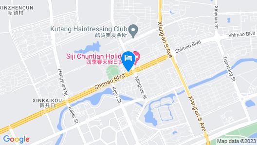 Wanda Vista Harbin Map