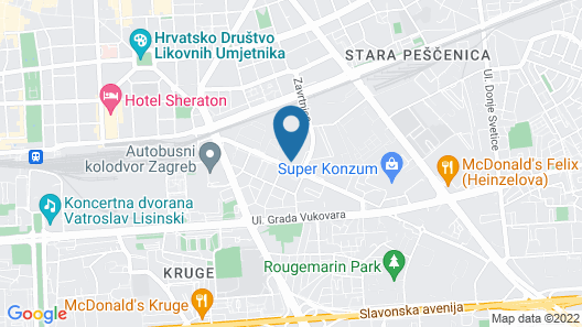 Hilton Garden Inn Zagreb Radnicka, Croatia Map