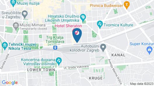 Canopy by Hilton Zagreb - City Centre Map