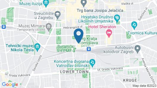 Hotel Esplanade Zagreb Map
