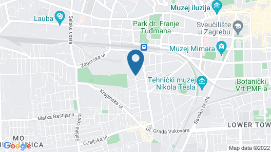 Panorama Zagreb Hotel Map