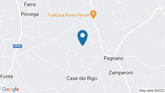Authentic Holiday Accommodation on a Farm, Near Asolo Map