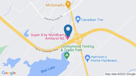 Super 8 by Wyndham Amherst NS Map