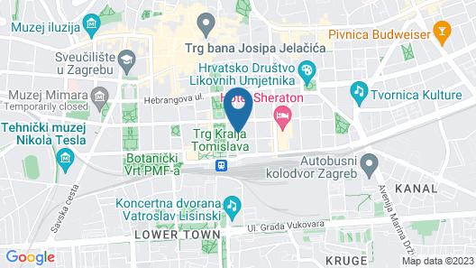 HI Hostel Zagreb Map