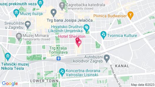 Sheraton Zagreb Hotel Map