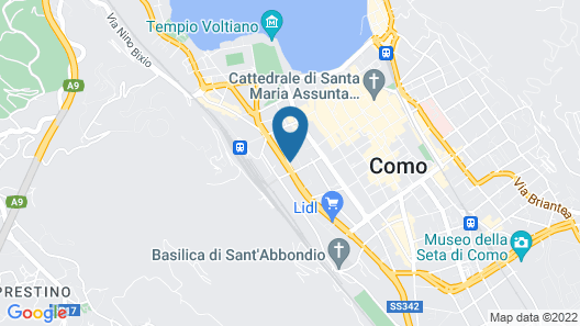 B&B Hotel Como City Center Map
