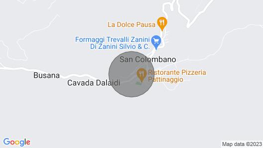 San Colombano: Chalet Lombardo Alpeilla, Kauniilla Näkymällä 6-7 Hengelle Map