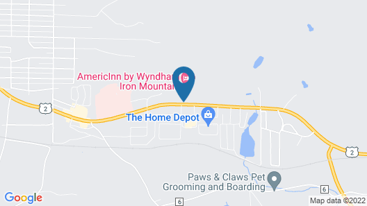Days Inn by Wyndham Iron Mountain Map