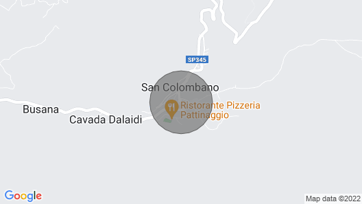San Colombano: House Rental in the Alps Map