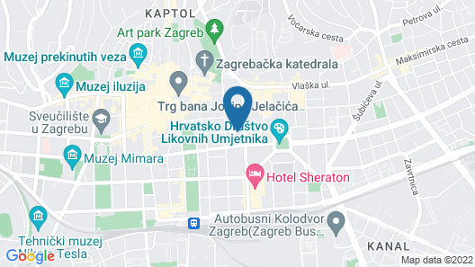 Downtown Zagreb Apartments Map
