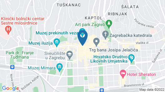 Timeout Heritage Hotel Zagreb Map