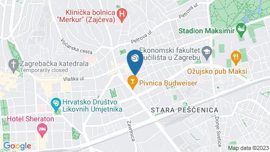 Anastasia Suites Zagreb Map