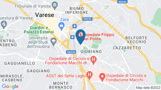 BelSorrisoVarese - Dormire Felice Rooms&Apartments Map