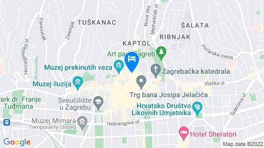 Rooms Zagreb 17 Map