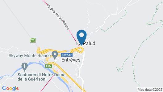 Hotel La Vallee Blanche Map