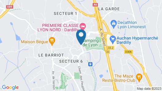 The Originals Westlodge Dardilly Lyon Nord Map