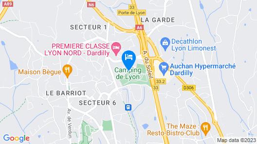 Camping de Lyon Map