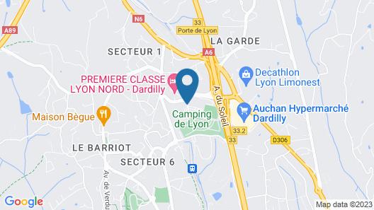 Novotel Lyon Nord Porte De Lyon Map