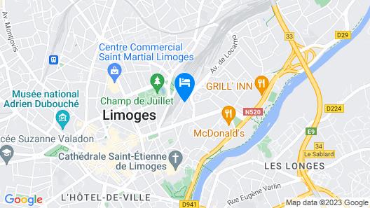 Kyriad Limoges Centre - Gare - Atrium Map