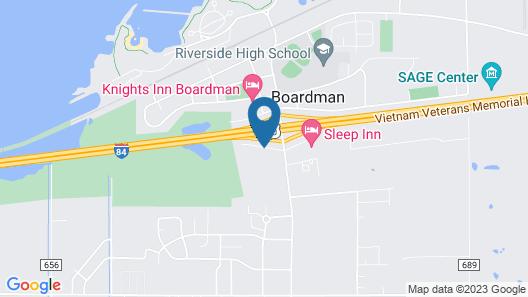 Rodeway Inn Boardman Map