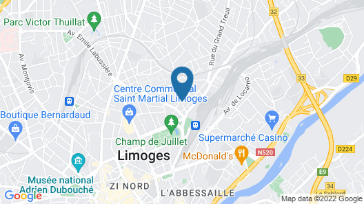 ibis budget Limoges Map