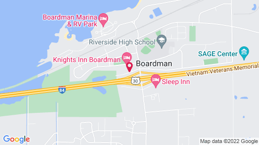 Knights Inn Boardman Map
