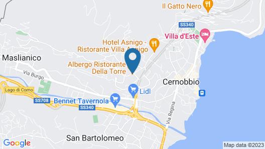 Albergo Ristorante Della Torre Map