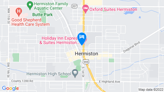 Holiday Inn Express & Suites Hermiston Downtown, an IHG Hotel Map