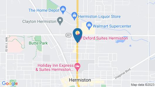 Oxford Suites Hermiston Map