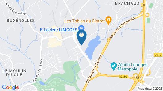 Novotel Limoges Le Lac Map
