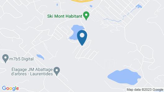 Chalet Saint Sauveur Mont Habitant Resort Ski & La Map