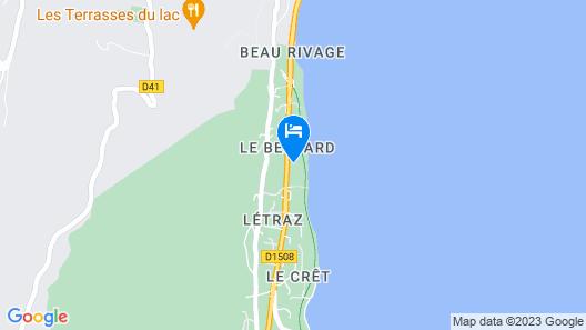 Hôtel Beauregard, The Originals Relais (Inter-Hotel) Map