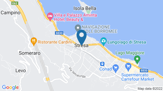Matias apartment in Stresa with lake view Map