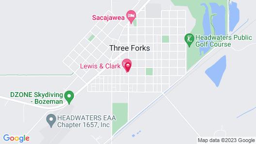 Three Forks Lewis & Clark Motel Map