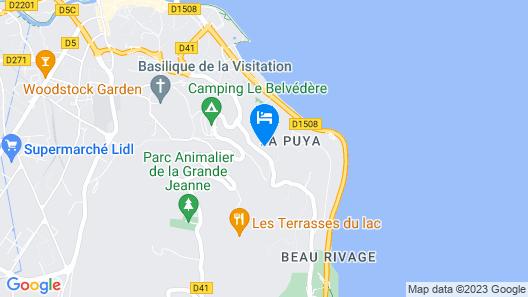 Les Tresoms Lake and Spa Resort  Map