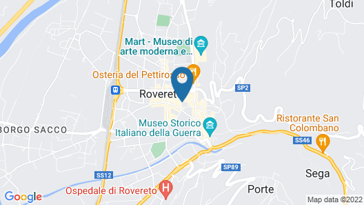 Ostello Rovereto Map