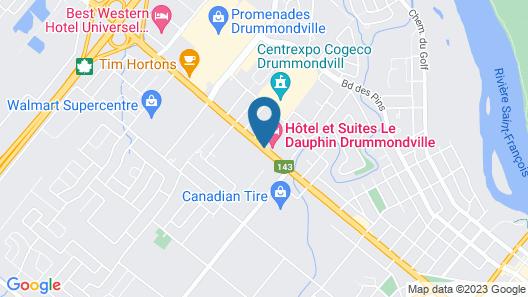 Hôtel & Suites Le Dauphin Drummondville Map
