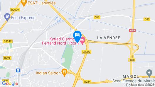 ibis Clermont Ferrand Nord Riom Map