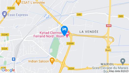 Campanile Clermont Ferrand Nord- Riom Map