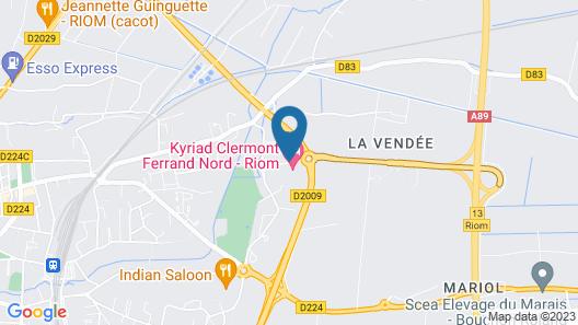 Kyriad Clermont Ferrand Nord - Riom Map