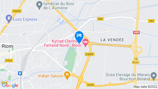 ibis budget Clermont-Ferrand Nord Riom Map