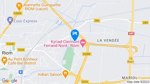 B&B Hotel Clermont Ferrand Nord Riom Map