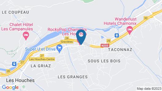 RockyPop Hotel (Portes de Chamonix) Map