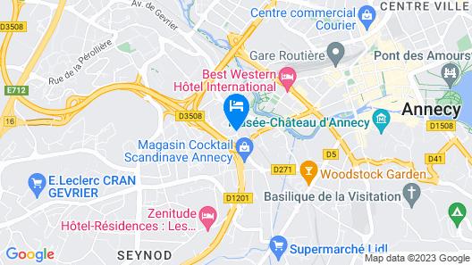 Séjours & Affaires Pont Neuf - Cran Gevrier Map