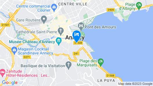 Le Boutik Hotel Map